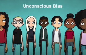 cartoon of a mixed race group of people